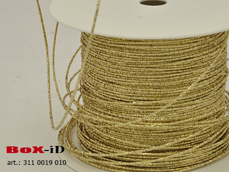 Metal cording wired goud 1mm x 100m
