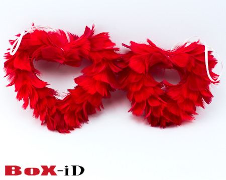 Valentine hearts set red (2pcs)