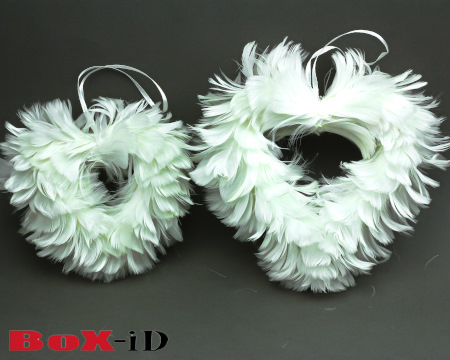 Valentine hearts set white (2pcs)