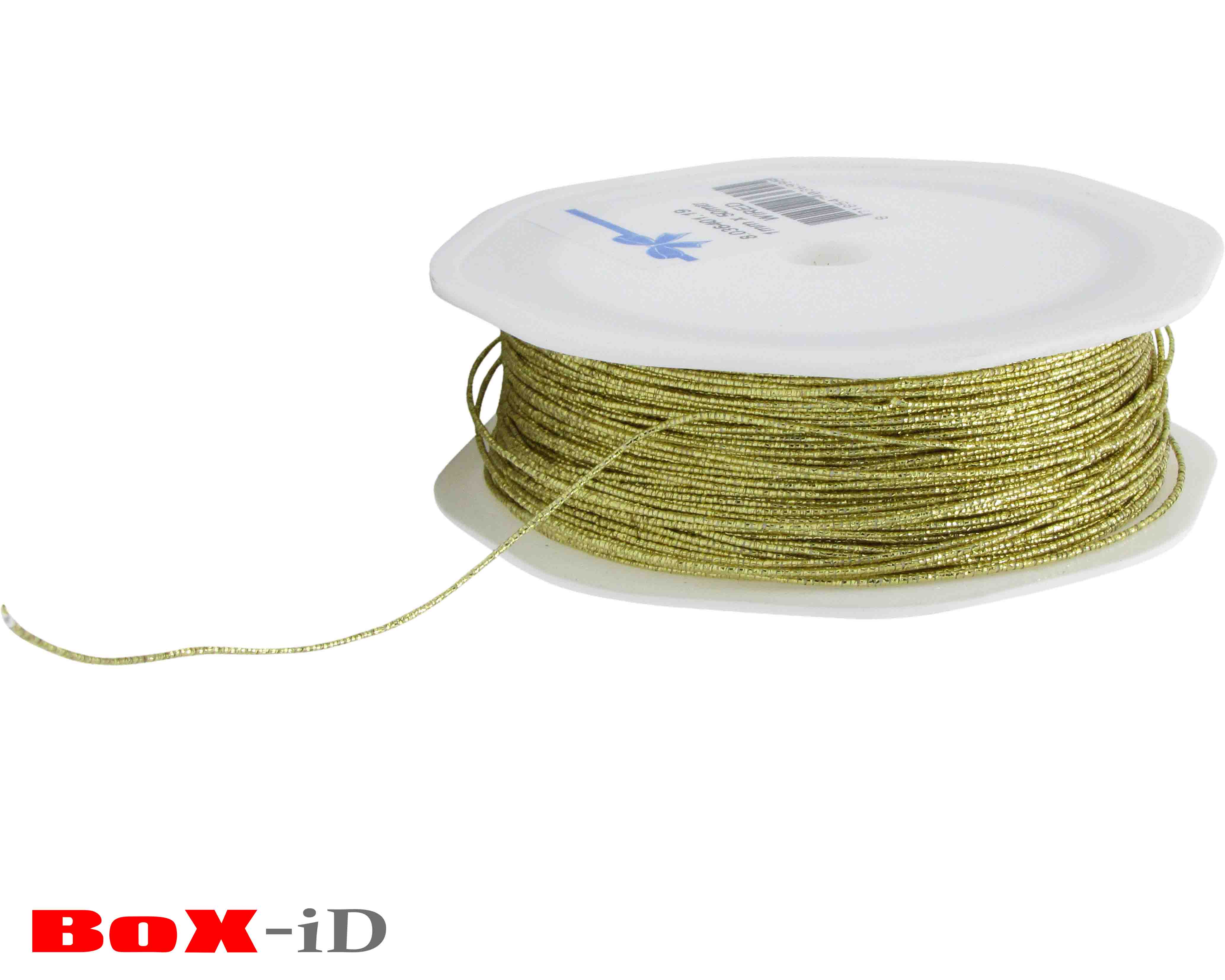 Metal cord wired gold 1mm x 50m