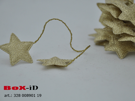 Stars on wired (2) goud 30mm (24pcsx2)